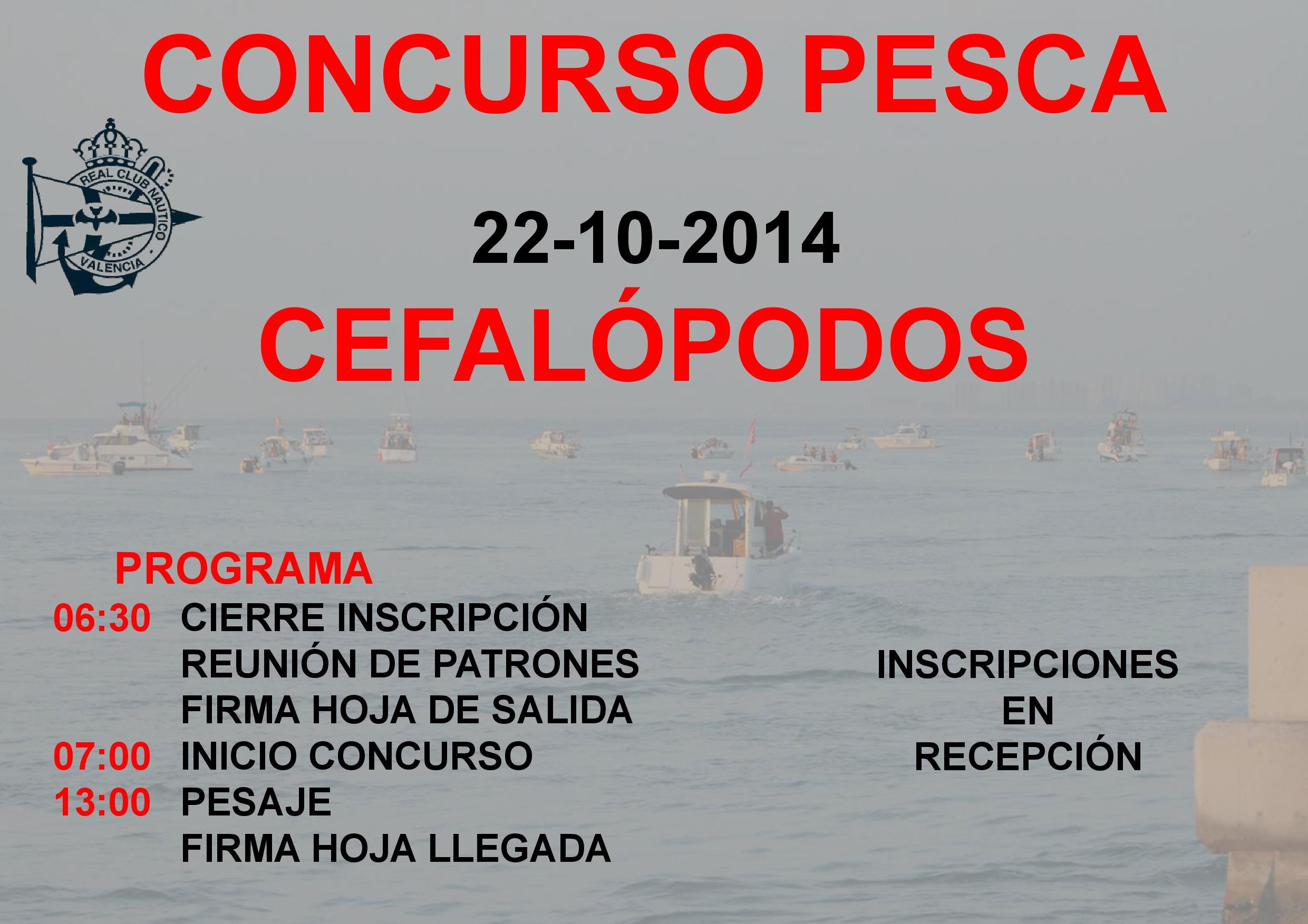 Concurso Pesca Cefalopodos