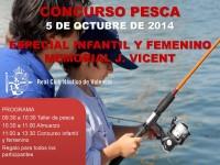 Cartel Pesca Femenino e Infantil