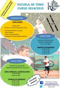 Cartel Escuela de Tenis