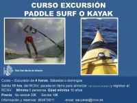 Cartel Curso Excursión Paddle Septiembre