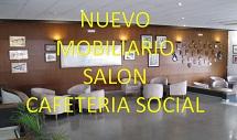 NUEVO MOBILIARIO SALON CAFETERIA SOCIAL.