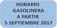 NUEVO HORARIO GASOLINERA