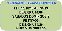 HORARIO GASOLINERA