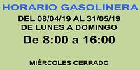 HORARIO GASOLINERA abril-mayo 2019