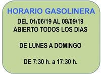 HORARIO GASOLINERA JUNIO -SEPTIEMBRE 2019