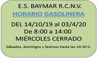HORARIO GASOLINERA septiembre 19